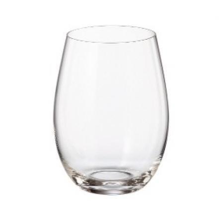 Copa Sin Pie Cristal 6x500ml. BOHEMIA CRYSTAL - Rep�blica Checa.